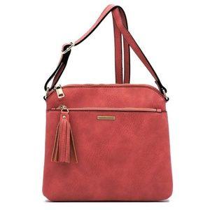 Handbags - Tassel Zipper Crossbody Bag